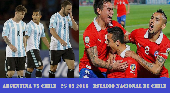 Chile Vs Argentina 2016 world cup 2018 qualifier