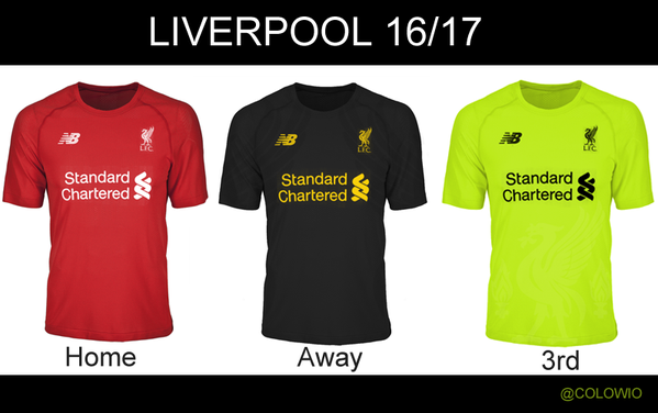 Liverpool all three kit