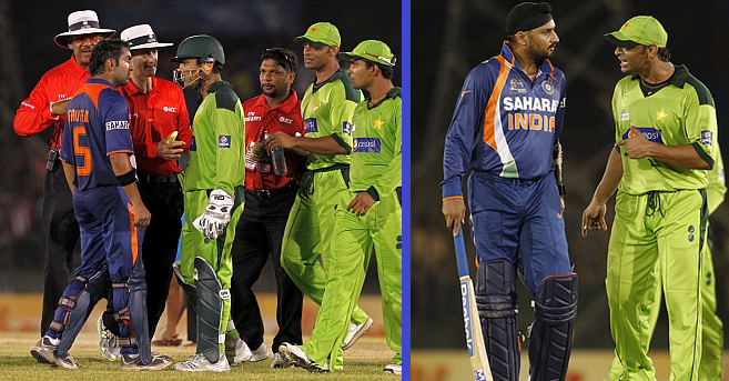 Pak India cricket fight
