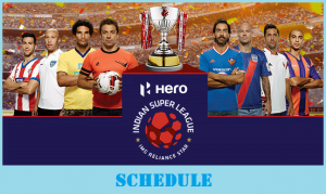 Hero Indian Super League 2017 Schedule (Released)