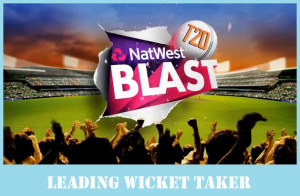 Top 20 Most Wicket taking bowlers in NatWest T20 Blast 2017 (Update Everyday)
