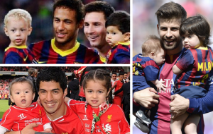 All Barcelona Players with their Cute Kids (HD Photo Gallery)