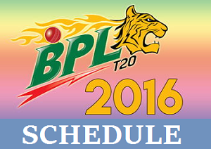 Bangladesh Premier League Fixture (Starting from 8 November)