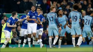Everton hammered Manchester City at the Goodison