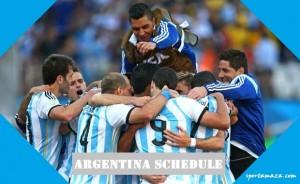 Argentina schedule