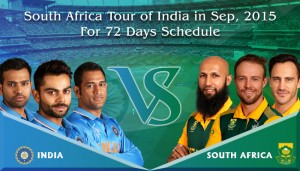 South Africa tour of India 2015 Schedule