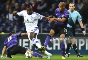FC Porto and Dynamo Kiev's Champions League match finished with 2 each