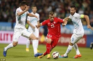 Switzerland won by 3 – 2 against Slovenia in Euro Qualifier