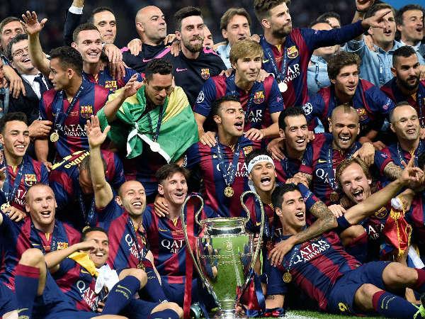 Champions League winner Barcelona