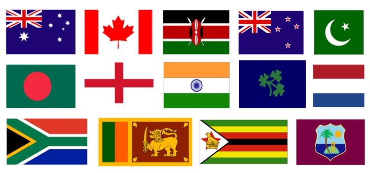 All cricket teams nicknames