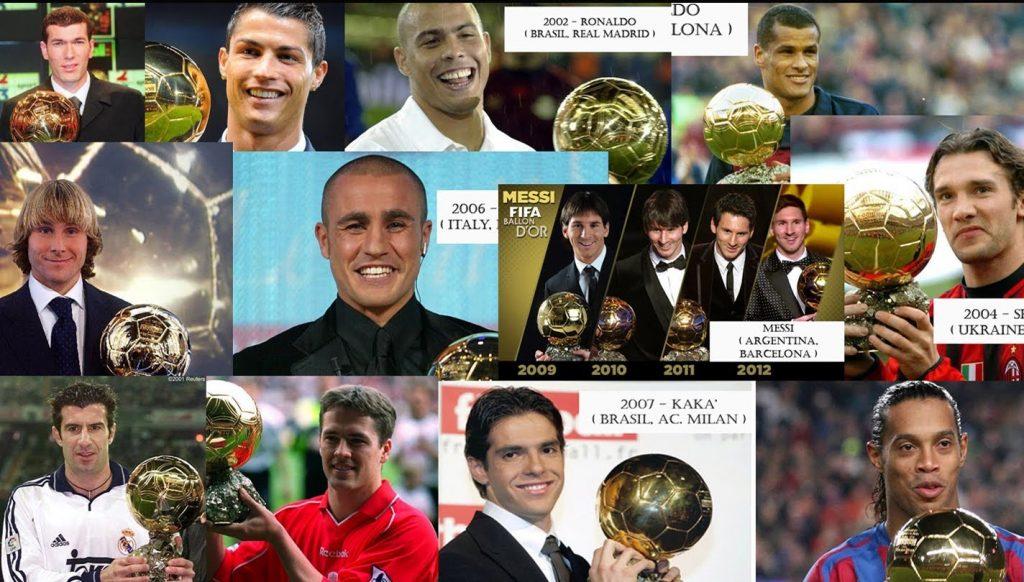 FIFA Ballon dor past winners