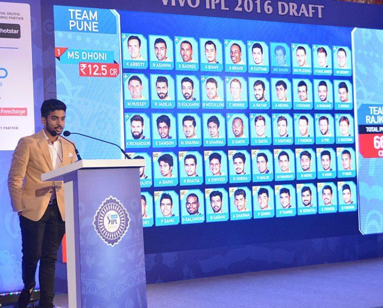 IPL Auction player draft 2016