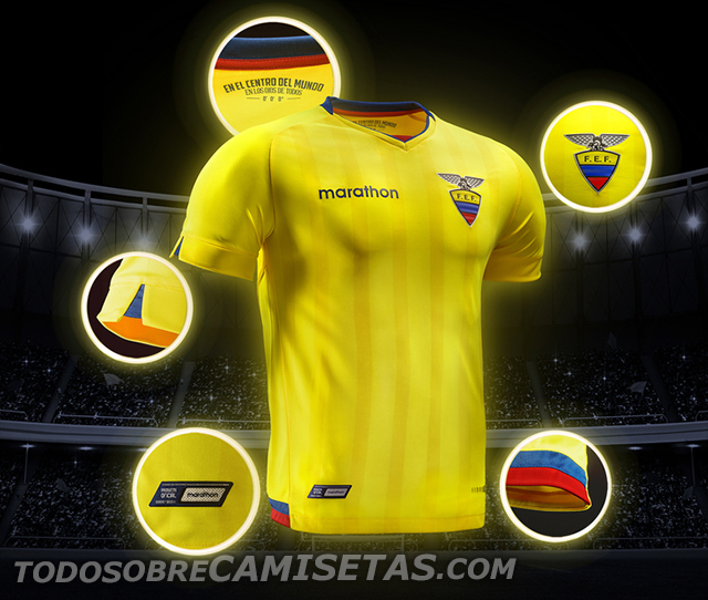 Equador Home Kit for Copa America 2016