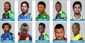Jamaica Tallawahs Team Squad (2016)