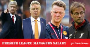 Premier Leageu Managers Salary