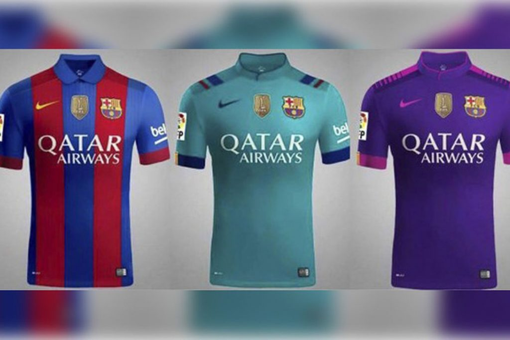 Barca all three kits