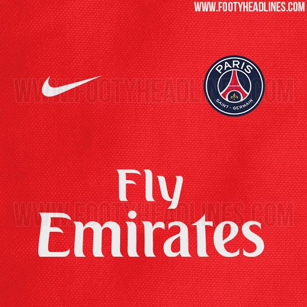 fed1fd41 Paris Saint Germain Red Away Kit 2016-17 (Revealed)
