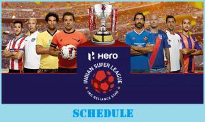 Hero Indian Super League 2018 Schedule (Released)