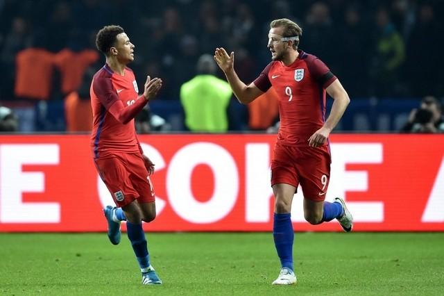 England goal celebration