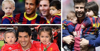 All Barcelona Players with their Cute Kids (Photo Gallery)