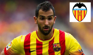 Martin Montoya joined Valencia after releasing from Barcelona contract