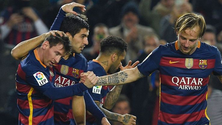 Messi, Suarez and Rakitic