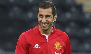 Man Utd winger Henrikh Mkhitaryan could miss the derby clash due to knee injury