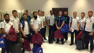 England team landed Dhaka for the cricket series against Bangladesh