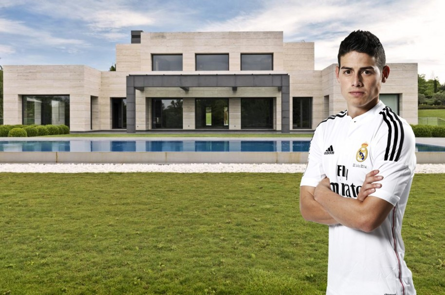 James home at Madrid
