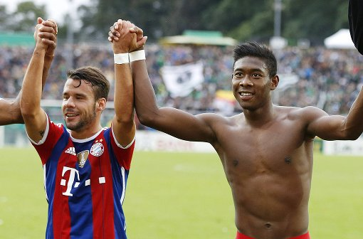 Juan Bernat and David Alaba