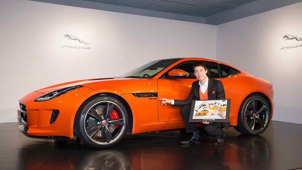 Jaguar car of Nishikori
