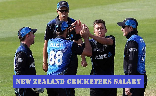 New Zealand cricketers salary