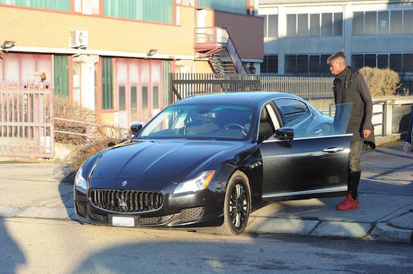 Picture of his Maserati   car