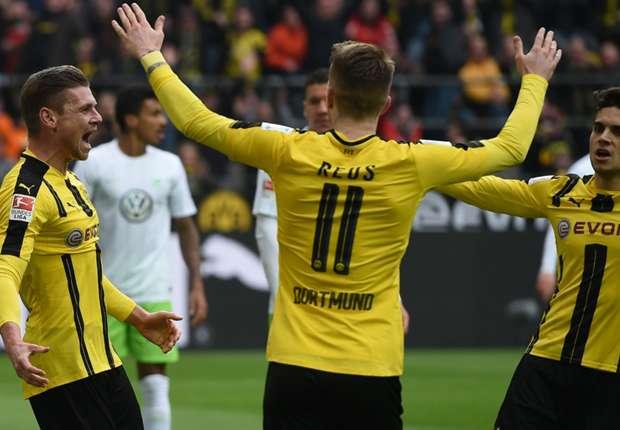 Dortmund defeat Wolfsburg