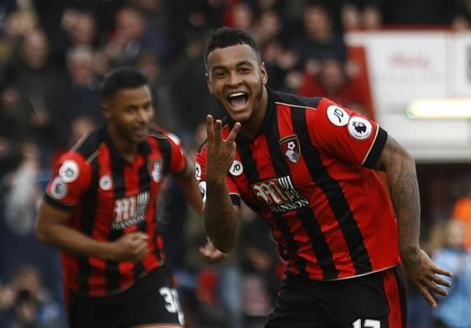 Joshua King's hat-trick