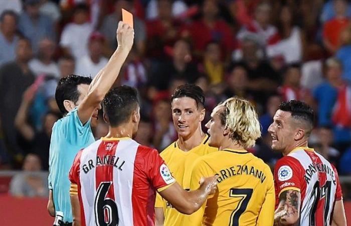 Griezmann red card