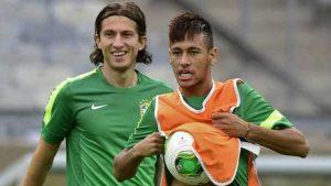 Brazil defender Filipe Luis thinks Neymar is happy at PSG