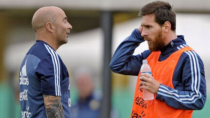 Jorge Sampaoli and Messi