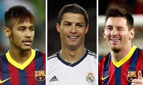 Messi, Ronaldo, Neymar