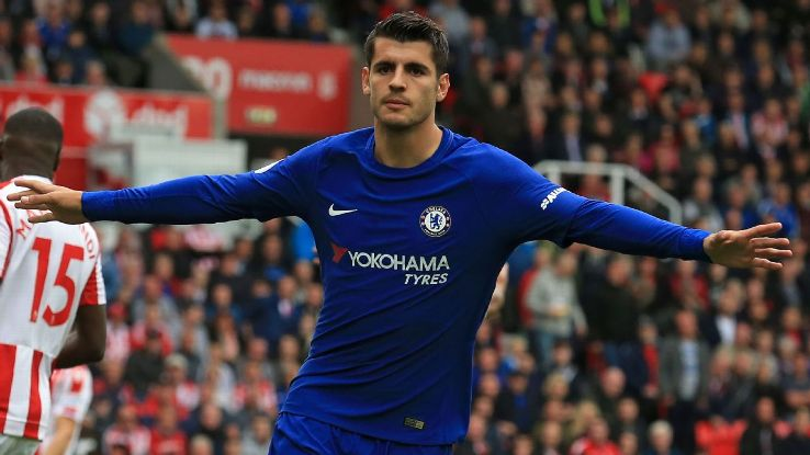 alvaro morata hat trick for chelsea
