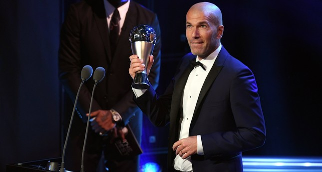 Zinedine Zidane coach of the year
