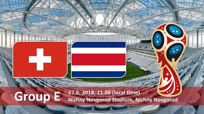 Switzerland Vs Costa Rica in World cup 2018