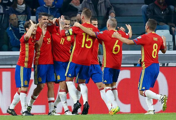 Spain reaches Russia
