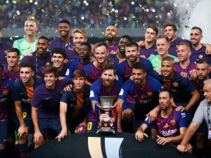 Barcelona won UEFA Super Cup